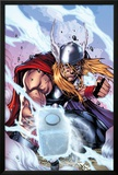 Thor: Heaven and Earth No.3 Cover: Thor Smashing with Mjonir Print by Agustin Padilla