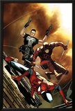 Avenging Spider-Man No.6 Cover: Spider-Man, Daredevil, and Punisher Jumping Prints by Steve MCNiven