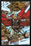 Thor: Heaven and Earth No.3: Thor Smashing with Mjolnir Posters by Pascal Alixe