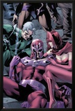 Magnetro: Not a Hero No.2 Cover: Magneto, Scarlet Witch, and Quicksilver Sitting Posters by Clay Mann
