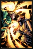Shadowland: Power-Man No.4: Iron Fist and Power Man Fighting Poster by Mahmud A. Asrar