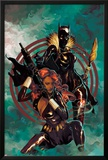 Klaws of The Panther No.4 Cover: Black Widow and Black Panther Posing Posters by Mike Del Mundo