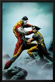 Wolverine No.4 Cover: Wolverine and Colossus Fighting Print by Jae Lee