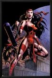 Herc No.8: Elektra Posing in an Alleyway Poster by June Brigman