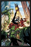Spider-Island: The Amazing Spider-Girl No.3: Spider-Girl Fighting and Kicking Print by Pepe Larraz