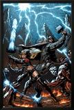 A+X 11 Cover: Thor, Magik Prints by Mark Texeira