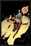 Deadpool 15 Cover: Deadpool, Wolverine, Captain America Posters by Declan Shalvey
