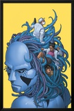 X-Club No.3 Cover: Danger, Kavita Rao, Dr. Nemesis, Madison Jeffries Print by Rodin Esquejo