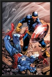 X-Men Forever 2 No.15 Cover: Cyclops and Captain America Print by Tom Grummett