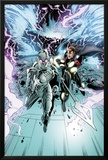 Annihilators No.2: Ikon and Quasar Fighting and Running from a Tornado Storm Posters by Tan Eng Huat