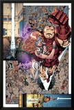 Iron Age No.3: Iron Man and Dazzler Flying Photo by Todd Nauck