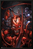 Superior Carnage 5 Cover: Carnage, Spider-Man, Wizard Poster by Clayton Crain