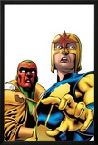 Marvel Adventures Super Heroes No.9 Cover: Nova and Vision Standing Posters by Ronan Cliquet