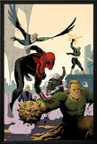 Superior Spider-Man Team-Up 6 Cover: Spider-Man, Vulture, Electro, Mysterio, Chameleon, Sandman Print by Paolo Rivera