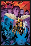 X-Men: Battle of the Atom 1 Cover: Jean, Iceman, Beast, Angel, Wolverine, Storm, Hayes, Molly Posters by Arthur Adams