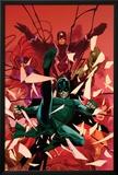 Inhumanity 1 Cover: Black Bolt, Karnak, Medusa, Crystal, Triton, Gorgon Posters by Olivier Coipel