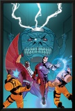 Avengers Assemble Panel Featuring Falcon, Iron Man, A.I.M., M.O.D.O.K Photo