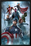 The Avengers: Age of Ultron - Captain America, Black Widow, Hulk, Hawkeye, Vision, Iron Man, Thor Print