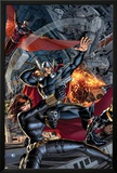 Avengers 2 Cover: Black Widow, Falcon, Thor, Sunspot Photo by Dustin Weaver