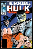 Incredible Hulk No.335 Cover: Hulk, Wagner, Adria and Stalker Print by John Ridgway