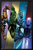 Infinity: Heist 2 Cover: Spymaster, Titanium Man, Whiplash, Blizzard Prints by Al Barrionuevo