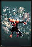 Superior Spider-Man 7 Cover: Spider-Man, Spider Woman, Wolverine, Captain America, Black Widow Photo by Humberto Ramos