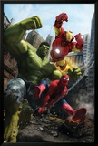 Marvel Adventures Iron Man Special Edition No.1 Cover: Iron Man, Hulk and Spider-Man Print by Francisco Ruiz Velasco