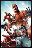 Avengers vs. Atlas No.2 Group: Captain America, Thor, Iron Man, Wasp and Giant Man Konst av Gabriel Hardman