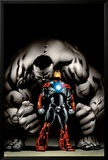 Ultimate Human No.4 Cover: Iron Man and Hulk Posters by Cary Nord