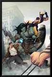 Incredible Hulk No.603 Cover: Skaar, Wolverine, Banner and Bruce Posters af Ariel Olivetti