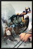 Incredible Hulk No.603 Cover: Skaar, Wolverine, Banner and Bruce Posters av Ariel Olivetti