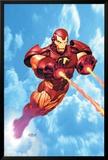 Iron Man: Iron Protocols No.1 Cover: Iron Man Fighting Affischer av Ariel Olivetti