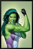 She-Hulk No.9 Cover: She-Hulk Prints by Mike Mayhew