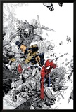 The Amazing Spider-Man No.555 Cover: Spider-Man and Wolverine Affischer av Chris Bachalo