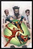 Powerless No.6 Cover: Wolverine, Daredevil, Matt Murdock, Spider-Man, Peter Parker, Logan Posters by Steve MCNiven
