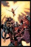 Ultimate X-Men No.93 Cover: Wolverine, Phoenix, Apocalypse and Onslaught Art par Salvador Larroca