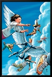 X-Men Unlimited No.8 Cover: Angel Charging Art by Cliff Richards