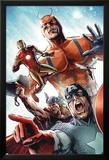 Avengers vs. Atlas No.2 Group: Captain America, Thor, Iron Man, Wasp and Giant Man Posters av Gabriel Hardman