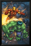 Marvel Team-Up No.4 Cover: Hulk and Iron Man Affischer av Scott Kolins