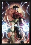 Dark Reign: Young Avengers No.4 Cover: Wiccan and Enchantress Planscher av Mark Brooks