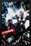 Nova No.17 Cover: Nova and Darkhawk Print by Francesco Mattina
