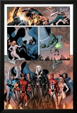 Dark Avengers No.7 Group: Emma Frost, Wolverine, Mimic, Weapon Omega and Dagger Prints by Luke Ross