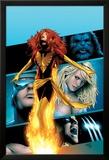 X-Men: Phoenix - Endsong No.2 Cover: Phoenix, Beast, Emma Frost, Cyclops and Wolverine Affiches par Greg Land