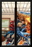 Marvel Adventures Spider-Man No.39 Cover: Spider-Man, Fatastic Four Láminas por Patrick Scherberger