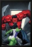 King Size Hulk No.1 Cover: She-Hulk and Rulk Posters av Frank Cho