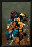 Wolverine No.62 Cover: Wolverine and Mystique Plakater af Ron Garney