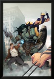 Incredible Hulk No.603 Cover: Skaar, Wolverine, Banner and Bruce Plakater af Ariel Olivetti