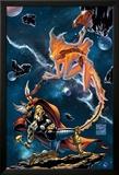 Stormbreaker: The Saga Of Beta Ray Bill No.3 Cover: Stardust and Beta-Ray Bill Flying Affiche par Andrea Di Vito