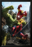 Marvel Adventures Iron Man Special Edition No.1 Cover: Iron Man, Hulk and Spider-Man Poster by Francisco Ruiz Velasco