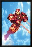 Iron Man: Iron Protocols No.1 Cover: Iron Man Fighting Posters av Ariel Olivetti
